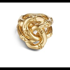 John Hardy 18k Gold Bamboo Knot Ring